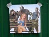 Got some zombie targets for Father's Day. Notice I got some good head shots without hitting the girl :)