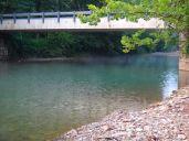 Bear Creek is a pretty shade of clear green.