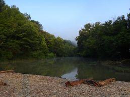 The dam across Laughery Creek.