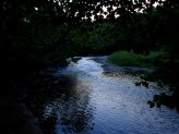 The ford at sunset.